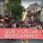 Muchedumbre exige retorno inmediato de Ariel Bergamino